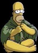 Homero meditando