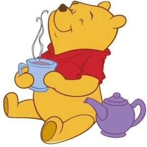 Pooh tomando te